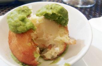La croqueta de ensaladilla del restaurante Cargadores de Indias. Foto: Cosasdecome