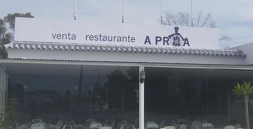 La carta de la Venta Restaurante A Proa de Jerez