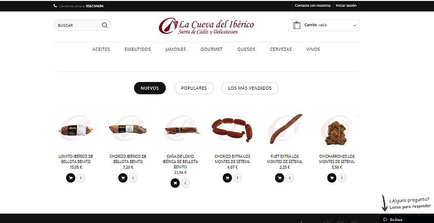 Renovada web para comprar productos de la provincia