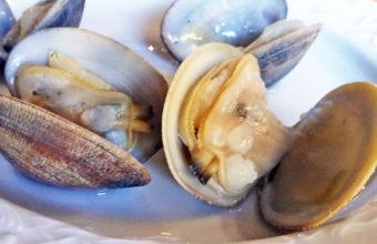 Almejas al vapor del restaurante Los Esteros de Puerto Real. Foto: Cosasdecome