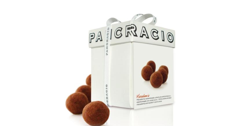 Pancracio lanza una nuez de macadamia cubierta con cacao