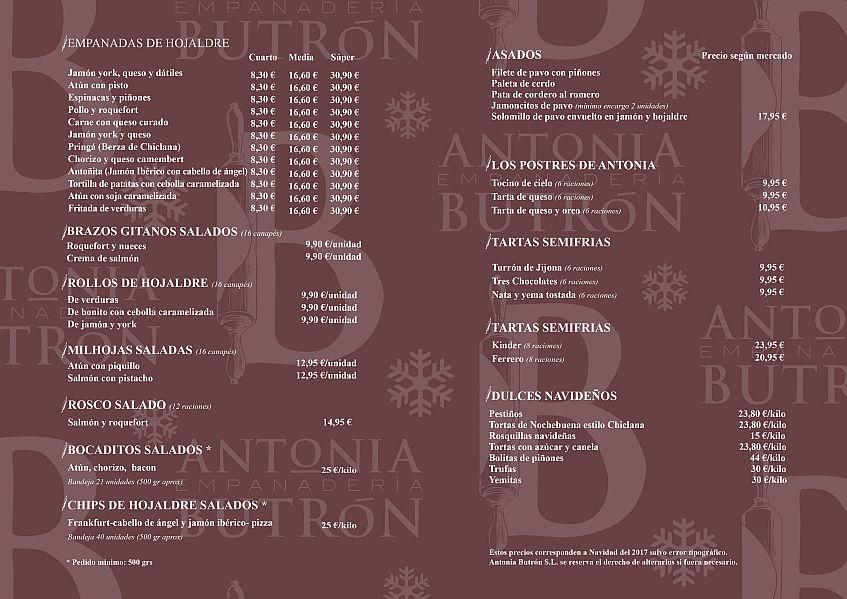 Int menu navidad Antonia Butron 2017