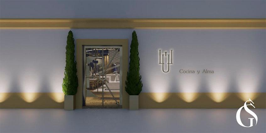 Así será la entrada de Lu Cocina y Alma según el diseño realizado por Gaspar Sobrino