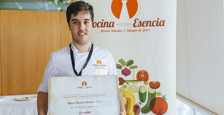 Un estudiante asturiano gana el premio a la mejor receta con vinagre de Jerez