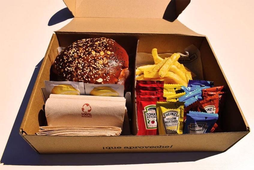 Así van presentados los productos en los pedidos a domicilio. Foto: Cedida por The Cabin.