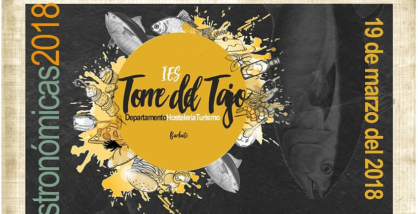 Cartel de lujo para las jornadas gastronómicas del instituto barbateño Torre del Tajo