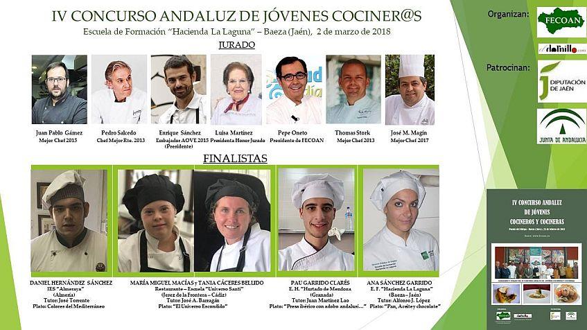 El jurado y los finalistas. Imagen de la organización
