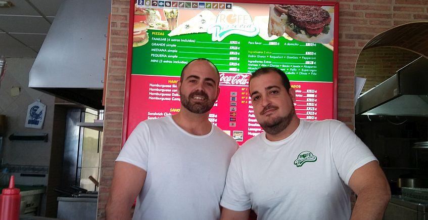 Ismael y José Manuel, en el Rofe.