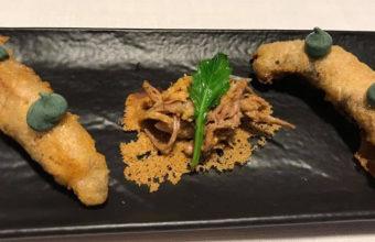 La hueva de caballa en tempura de La Curiosidad de Mauro