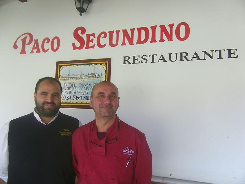 Marcos Dominguez y el cocinero David Jerez, de Paco Secundino. Foto: Cosasdecome