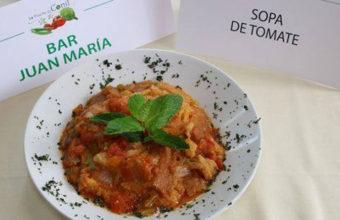 Sopa tomate del Bar Juan Maria. Foto: Cedida por el Patronato de Turismo de Conil