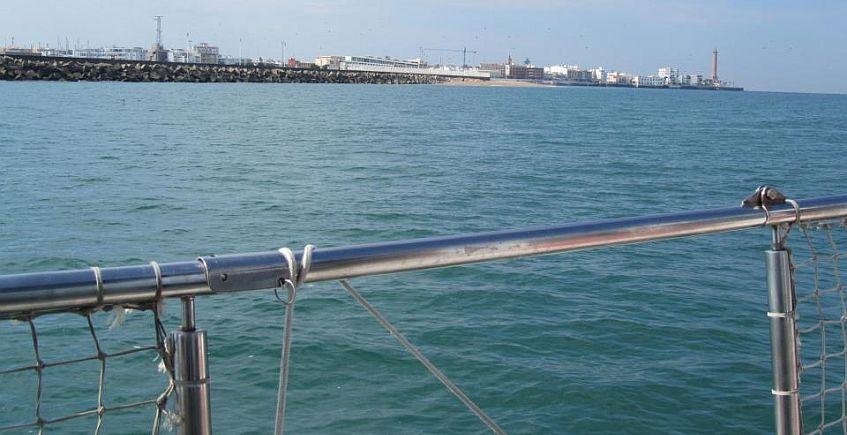 Chipiona desde el mar. Foto de Chipiona Charter