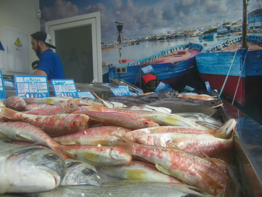 La pescadería de los Hermanos Muñoz. Foto: Cosasdecome