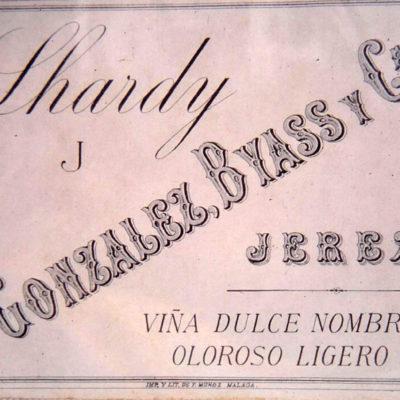 Etiqueta de González Byass realizada para el restaurante Lhardy.