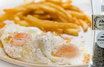 Huevos camperos con alma de caviar.