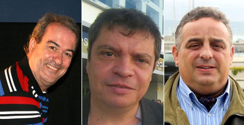 Los investigadores gaditanos que están averiguando cuestiones muy interesantes sobre la historia del menudo en la provincia de Cádiz: Javier Osuna, Manolo Ruiz Torres y Julio de la Torre.