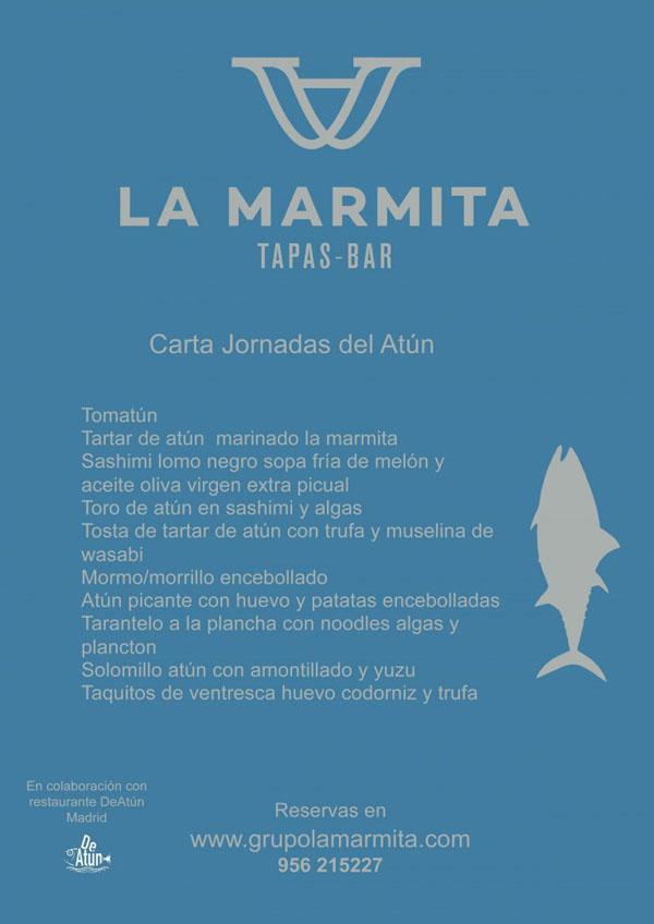 La carta de las jornadas del atún del 25 de mayo al 3 de junio.