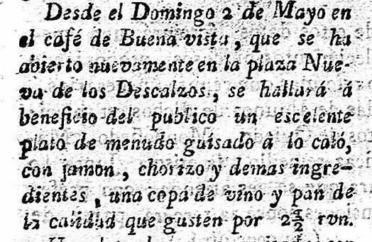 Recorte del anuncio del Café Buena Vista. De Javier Osuna.