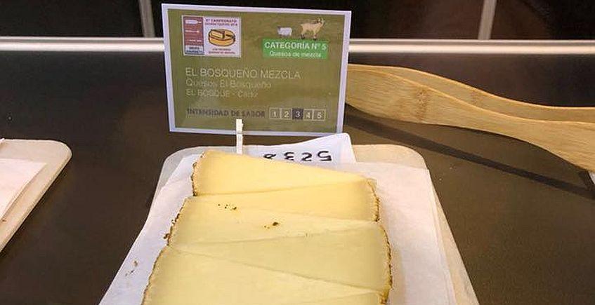 El queso del El Bosqueño, concursando. Foto del establecimiento.