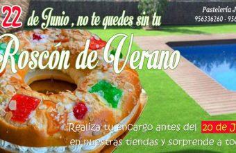 Cartel anunciador del roscon de verano de la pastelería Jesús de Jerez