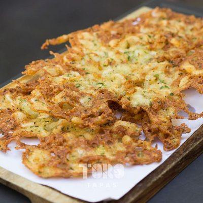 Las clásicas tortillitas de camarones.