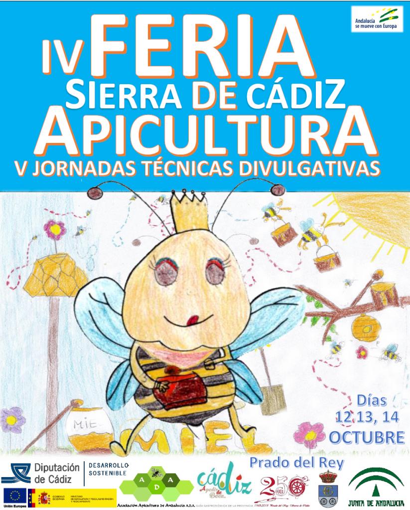 CARTEL IV FERIA APICULTURA DE APICULTURA SIERRA DE CADIZ