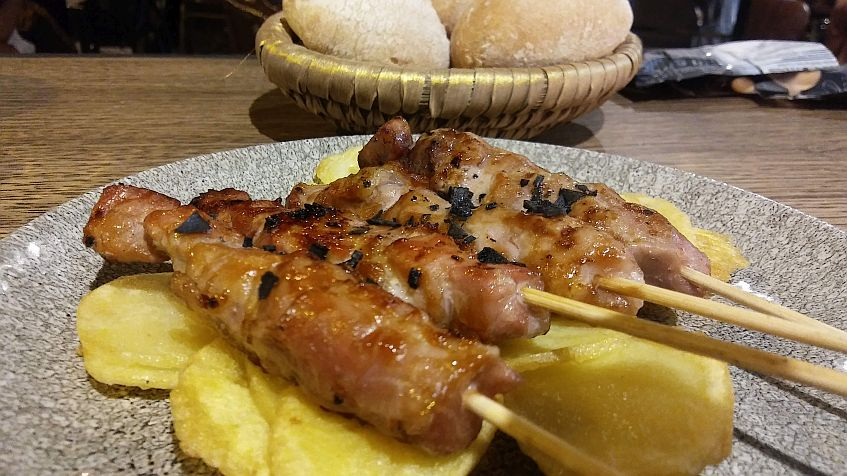 El solomillo Joselito, uno de los platos elaborados en la parrilla japonesa.