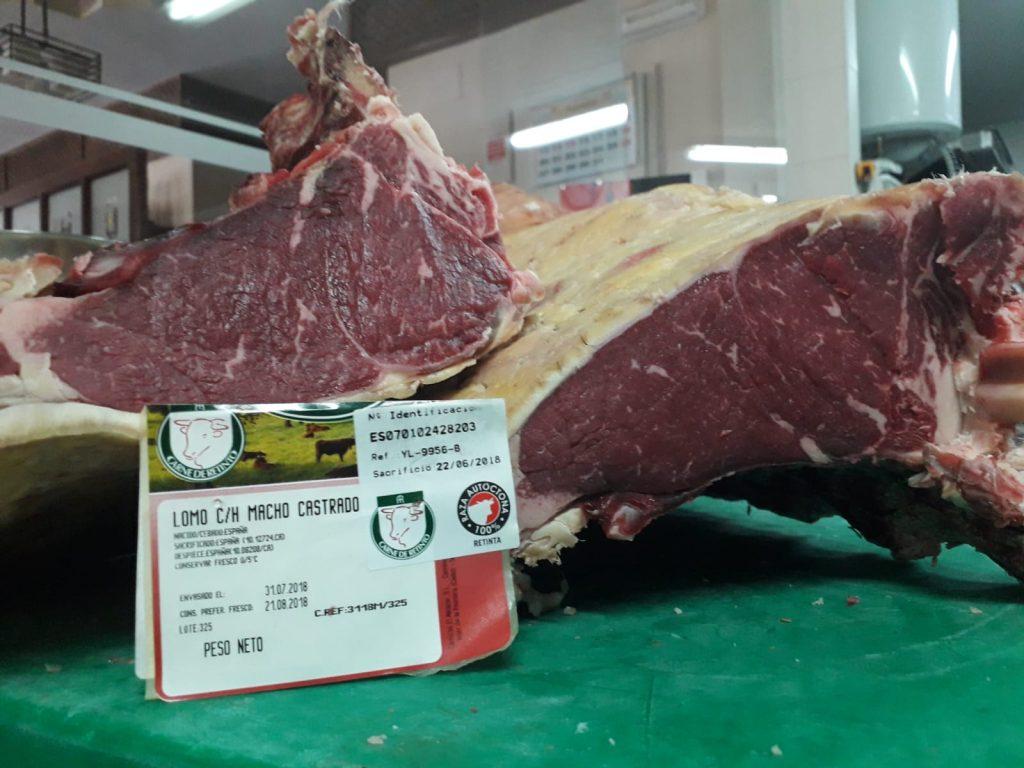 La carne de retinto.
