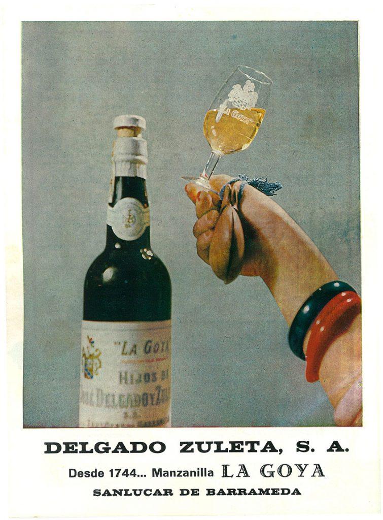 Anuncio de la manzailla La Goya en 1973. Foto: Cedida por la bodega.