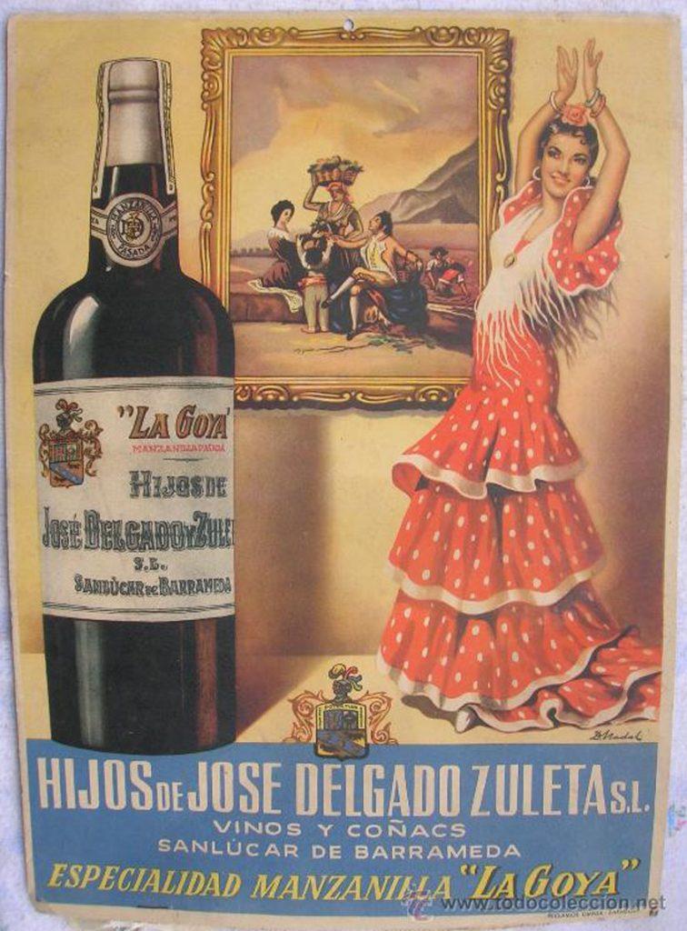 Cartel promocional de La Goya. No conocemos su fecha. Foto: Cedida por Delgado Zuleta.