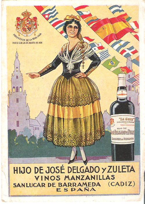 Cartel publicitario de La Goya para la exposición mundial de Sevilla de 1929. Foto: Cedida por Delgado Zuleta