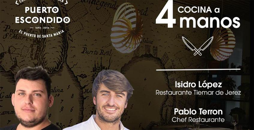 Jueves 4 de octubre: Cena a 4 manos en Puerto Escondido con los cocineros Pablo Terrón e Isidro López