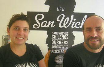 Daniela Meléndez y Javier Alvarez los propietarios de San Wich. Foto: Cosasdecome