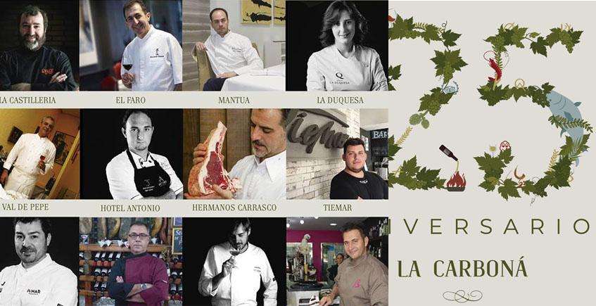 Doce cocineros de prestigio de la provincia ofrecerán una cena conjunta en La Carboná para celebrar su 25 aniversario