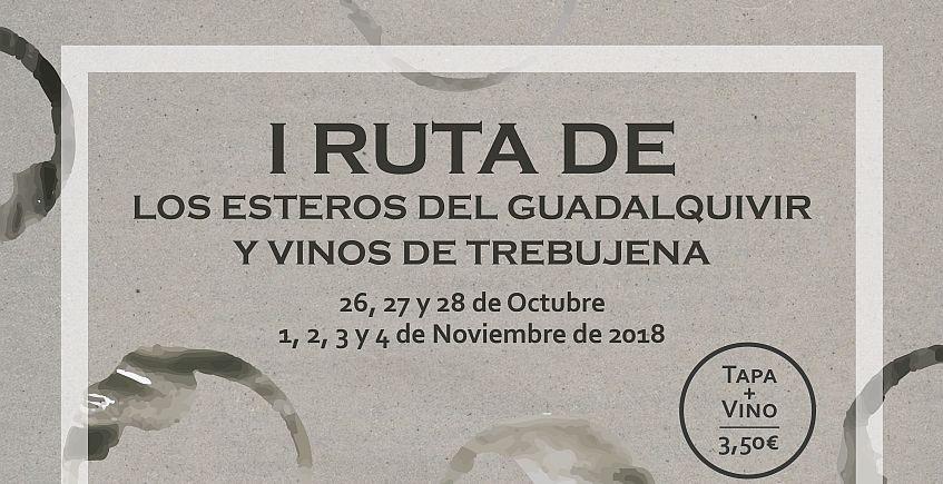 Del 26 al 28 de octubre y del 1 al 4 de noviembre. Trebujena. I Ruta de los Esteros del Guadalquivir y Vinos de Trebujena