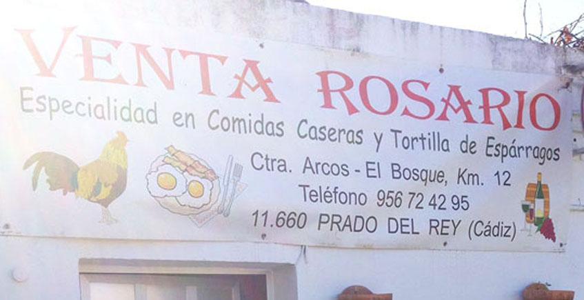 El cartel que anuncia las especialidades de la casa de la Venta Rosario. Foto: Cosasdecome