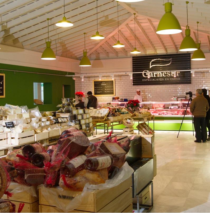 Interior de la tienda de Carnesur en Chiclana. Foto: Cedida por El Fogón de Mariana