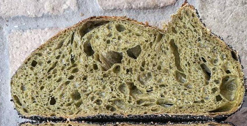 El pan realizado con trigo ecológico y té verde japonés de La Panatería. Foto: Cedida por el establecimiento