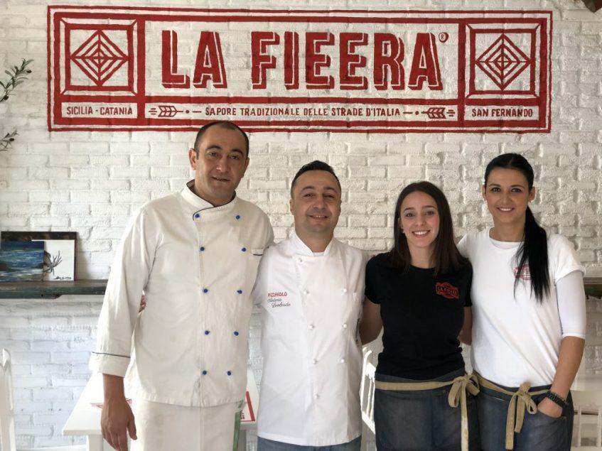 Vito Di Bari, Antonio Lombardo, Inna Lacida y Ana B. Expósito, equipo de la Fieera. Foto: CosasDeComé