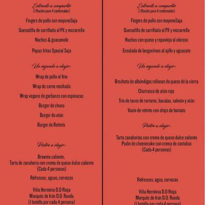 menu normal