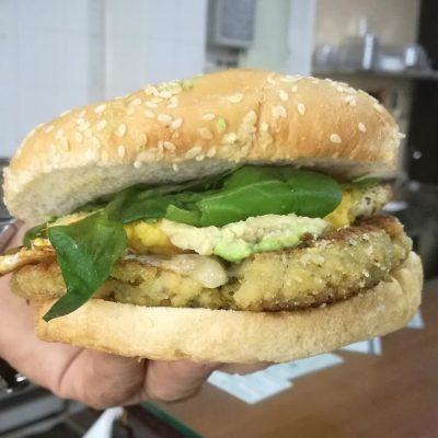 Una hamburguesa vegana. Todas las fotos han sido cedidas por el establecimiento.