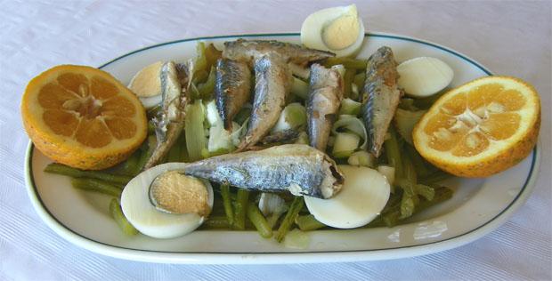 La ensalada de la venta El Cantarero. Foto: Cosasdecome