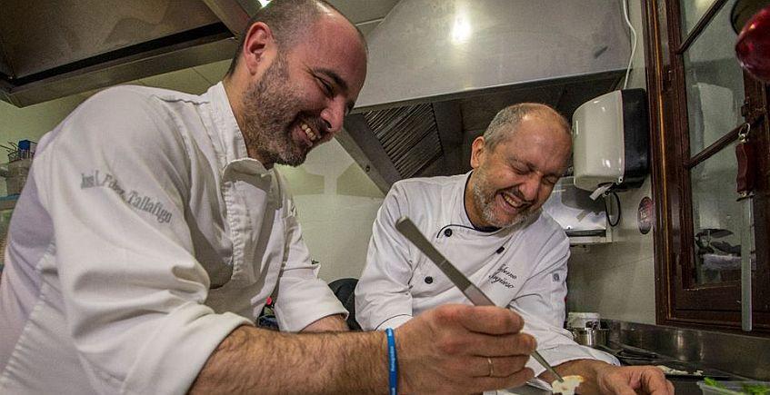 Cena a Cuatro Manos entre los cocineros de Taberna Argüeso y El Espejo