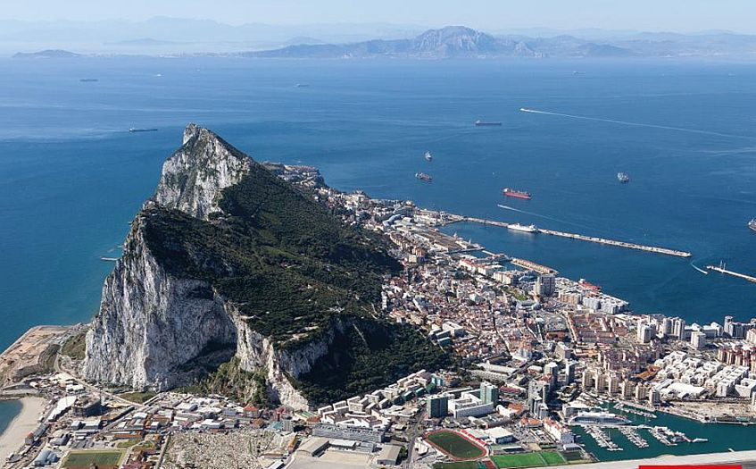 El peñón. Foto de www.visitgibraltar.gi