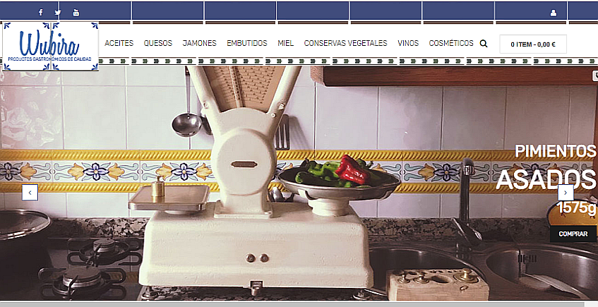 Una web para vender la gastronomía de Olvera