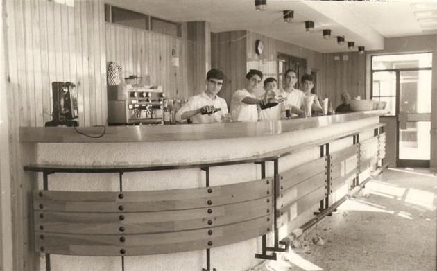 Así era la primera barra de El Faro. Foto: Cedida por el establecimiento