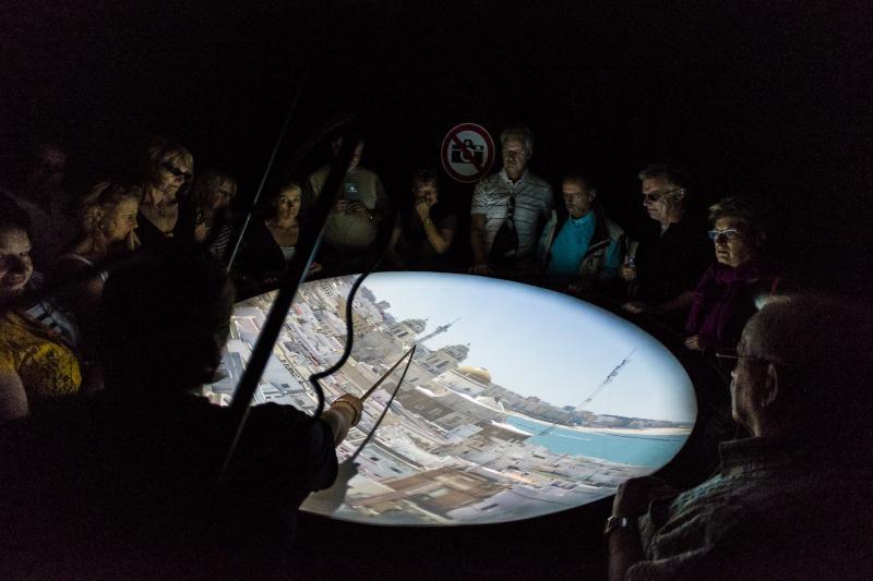 La cámara oscura de la Torre Tavira. Foto de Turismo del Ayuntamiento de Cádiz.