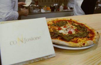 La pizza de tagarninas y huevo a baja temperatura de Confusione