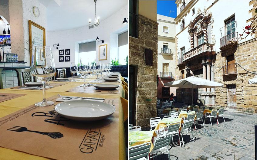 Comedor interior y terraza de Garage Bistro&bar