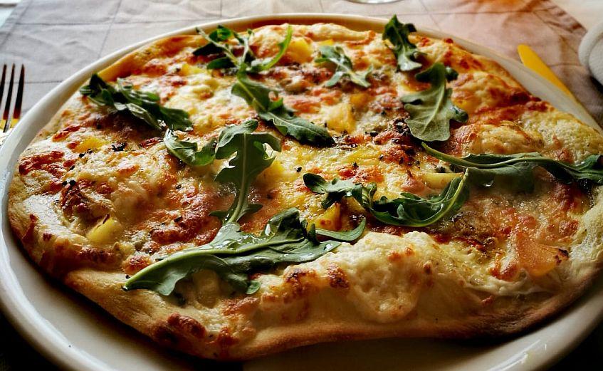 La pizza semidulce. Foto cedida por el establecimiento.